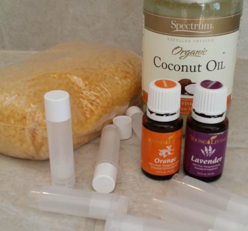 supplies-for-lavender-orange-lip-balm